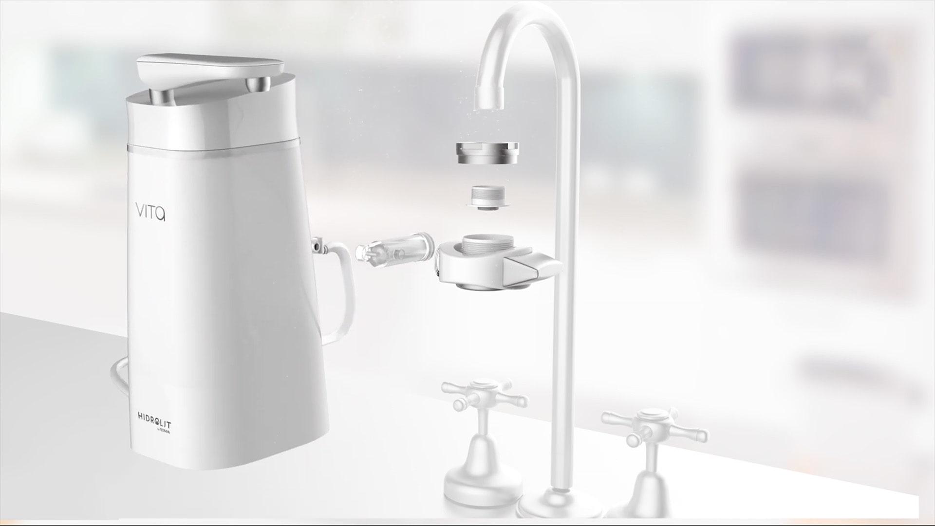 Purificador de agua hidrolit vita by teoma que genera agua alcalina instantáneamente
